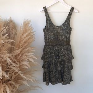 H&M metallic gold and silver party dress